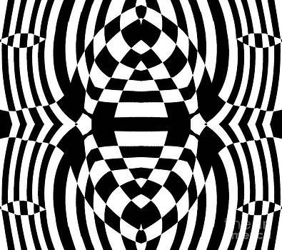 Drinka Mercep - Op Art Black White No.258.