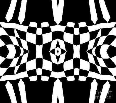 Drinka Mercep - Black and White Op Art Pattern No.213