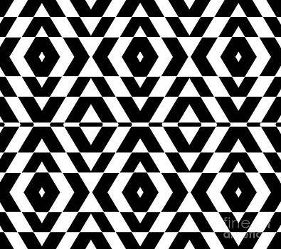 Drinka Mercep - Black and White Op Art Pattern No.267