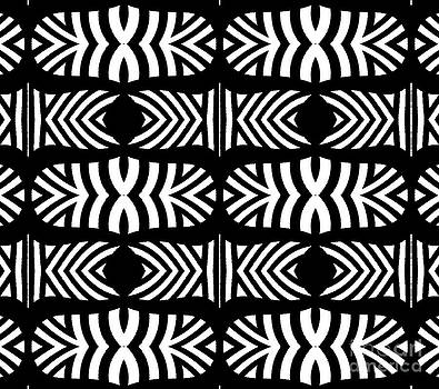 Pattern Black White Art No.302. by Drinka Mercep