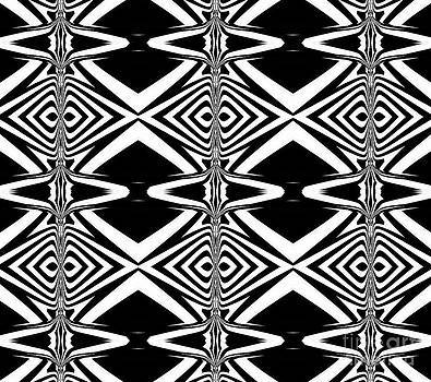 Pattern Black White Art No.314. by Drinka Mercep