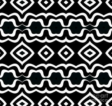 Pattern Black White Abstract Art No.325. by Drinka Mercep