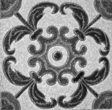 Black and White Portuguese Tile I by Jairo Rodriguez