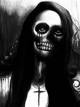 Black and White Skeleton Woman by Veronica Calderon