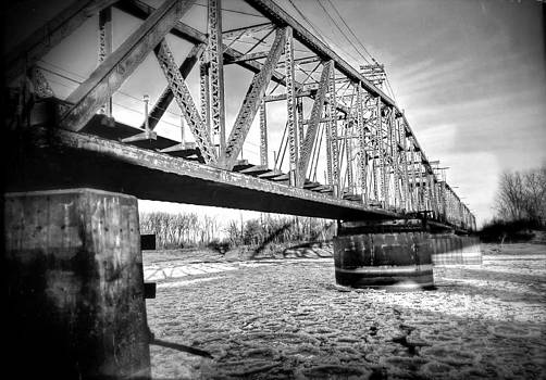 Black And White Train Bridge by Dustin Soph