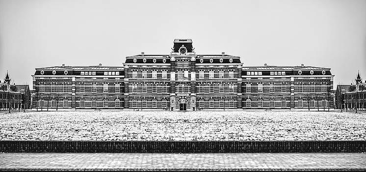 Black and White version of Ripperda Kazerne - Haarlem - the Netherlands by Yvon van der Wijk