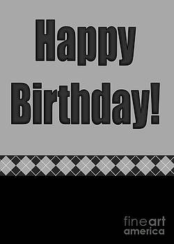 JH Designs - Black Argyle Birthday