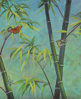 Black Bamboo   B by Bonnie Golden