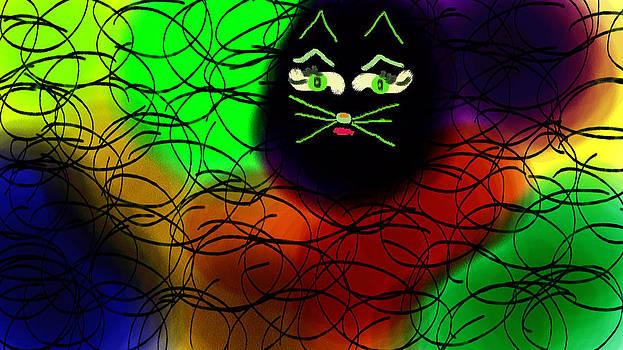 Black Cat Dreams by Rosana Ortiz