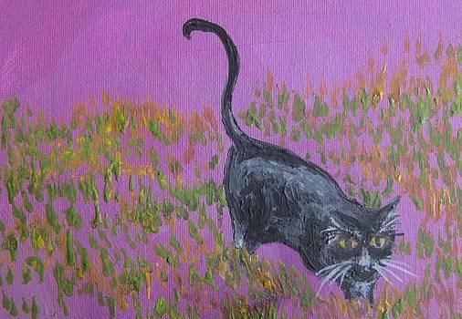 Cherie Sexsmith - Black Cat on Purple