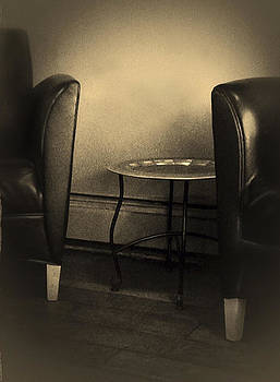 Black chairs by Bob RL Evans
