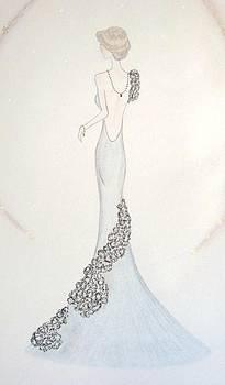 Black Chiffon Trellis Gown by Christine Corretti