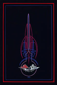 Black Corvette by Alan Johnson