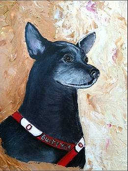 Black dog named Gabe by Patsi Stafford