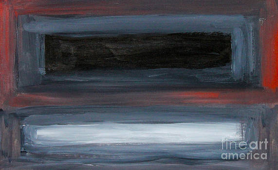 Black Gray Red after Rothko by Anne Cameron Cutri