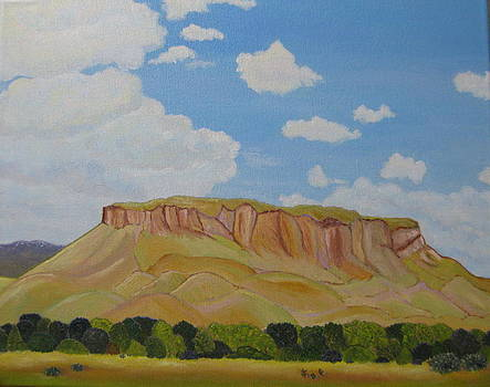 Black Mesa in Bright Light by Ann Laase Bailey