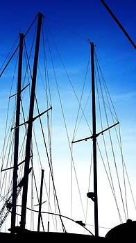 Rosemarie E Seppala - Black N Blue Hour Of Sailing Ships