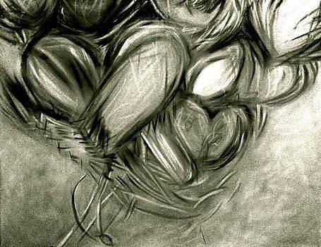 Black n' White-Hearts Soar-Thinking of You by Juliann Sweet