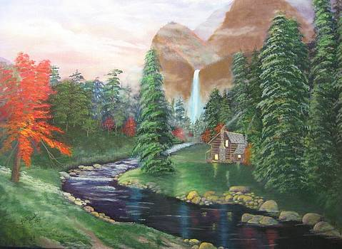 Black River Cabin by Betty Reineke
