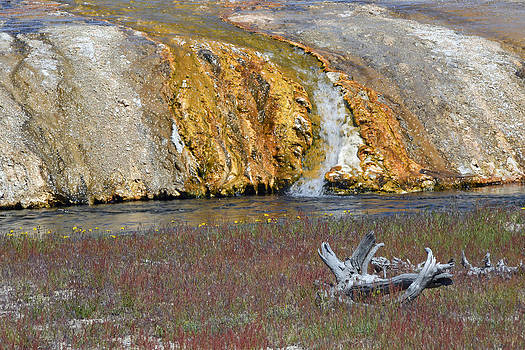 Black Sand Basin Runoff Yellowstone by Bruce Gourley