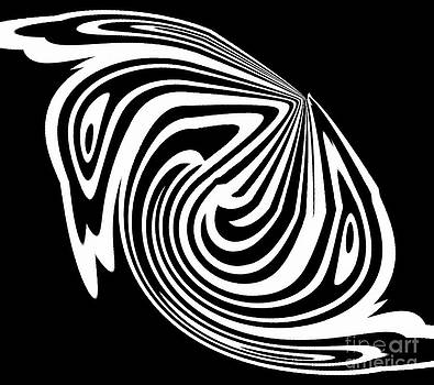 Black White Abstract Swirls Art No.320. by Drinka Mercep