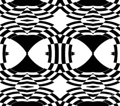 Drinka Mercep - Black White Pattern Op Art Print No.254.