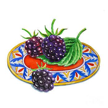 Irina Sztukowski - Blackberries On Deruta Plate