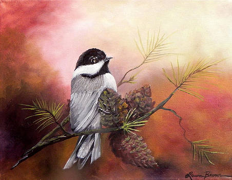 Blackcap Chickadee by Laura Brown