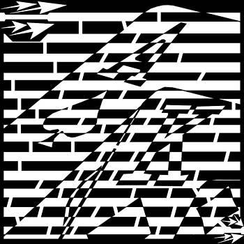 BlackJack Ace of Spade Maze  by Yonatan Frimer Maze Artist