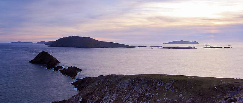 Blasket Islands sunset by Adrian Hendroff