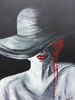 Bleeding flower by Noor Moghrabi