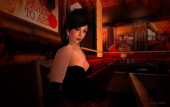 Blind Date in a Paris Restaurant 1920s by Kylie Sabra