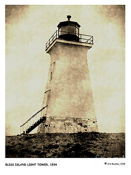 Art  MacKay - Bliss Island Light Tower Passamaquoddy Bay