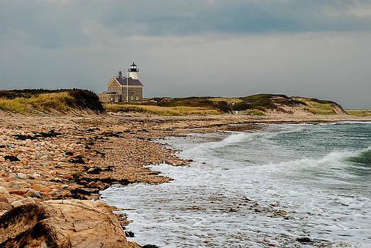 Block Island North Lighthouse  by Nancy De Flon