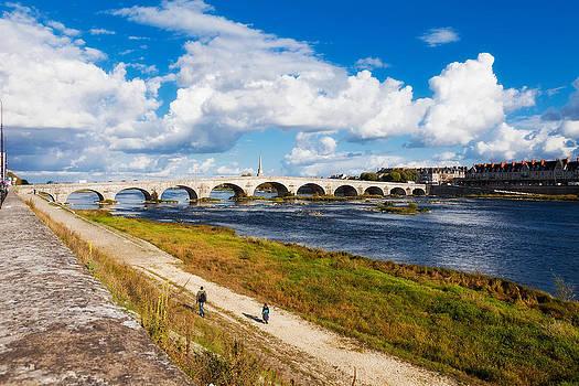 Blois Bridge over Loire River by Kirk Strickland
