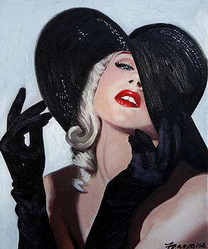 Blond in Black Hat by Francoise Lynch