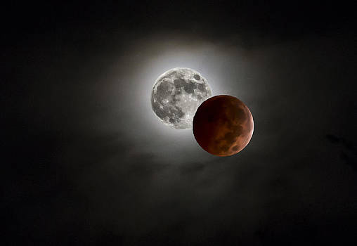 Blood Red Moon Before and After by Lisa Moore