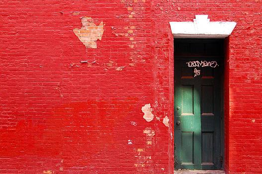 Blood Red Wall by Ronaldo Hidalgo