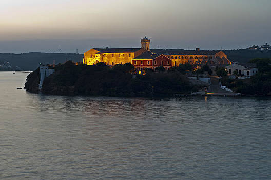 Pedro Cardona Llambias - Bloody island XVIII century naval hospital in Port Mahon - Bloody island blue hour