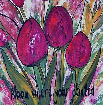 Bloom Where Your Planted Tulip Abstract by Cindy Micklos