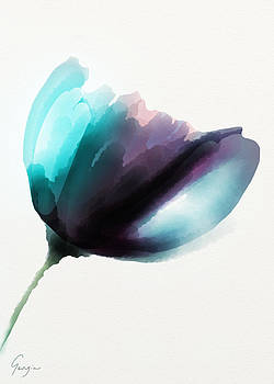 Blooming In Turquoise by Georgia Pistolis