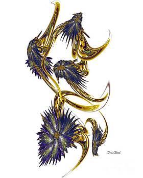Blooming Vine of Fractals by Doris Wood