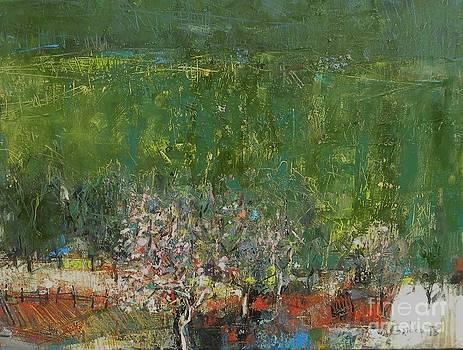 Blossoming Tree in the Garden by Grigor Malinov