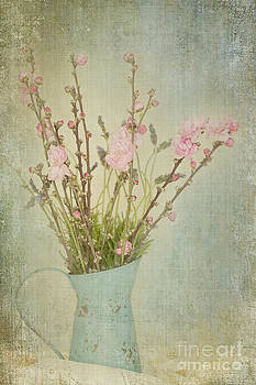 Susan Gary - Blossoms and Lavender in Vintage Water Can