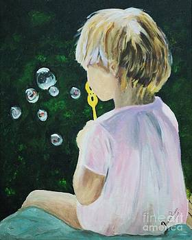Blowing Bubbles by Frankie Picasso