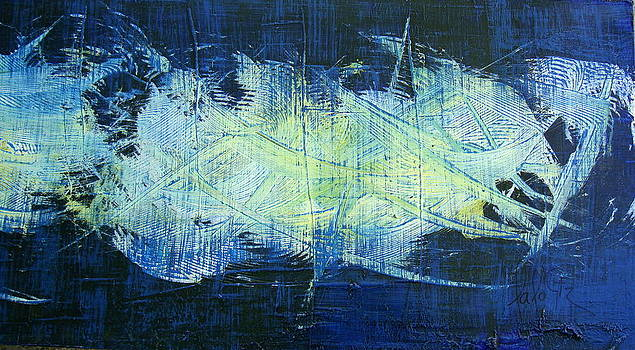 Blu Abstrac by Lalo Gutierrez