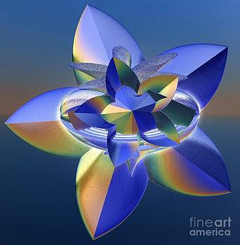 Gail Matthews - Blue and Gold Flower