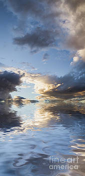 Blue and Gray Reflection by Holly Martin