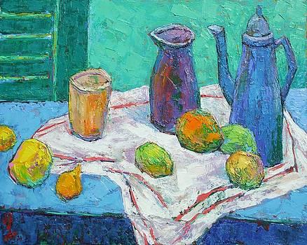 Blue and Orange Still Life by Siang Hua Wang