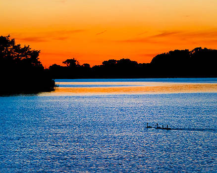 Blue And Orange Sunset On The Sassafras by Eleanor Ivins